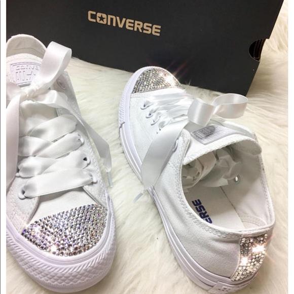 7faf835f04d09 Swarovski Crystal CONVERSE Bling Wedding sneakers